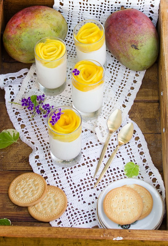 Cheesecake mousse de mango 1